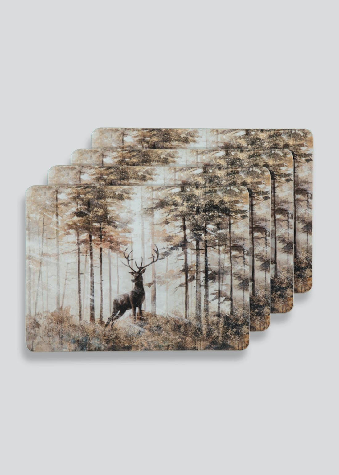 4 Pack Christmas Stag Cork Placemats (29cm x 21.5cm)