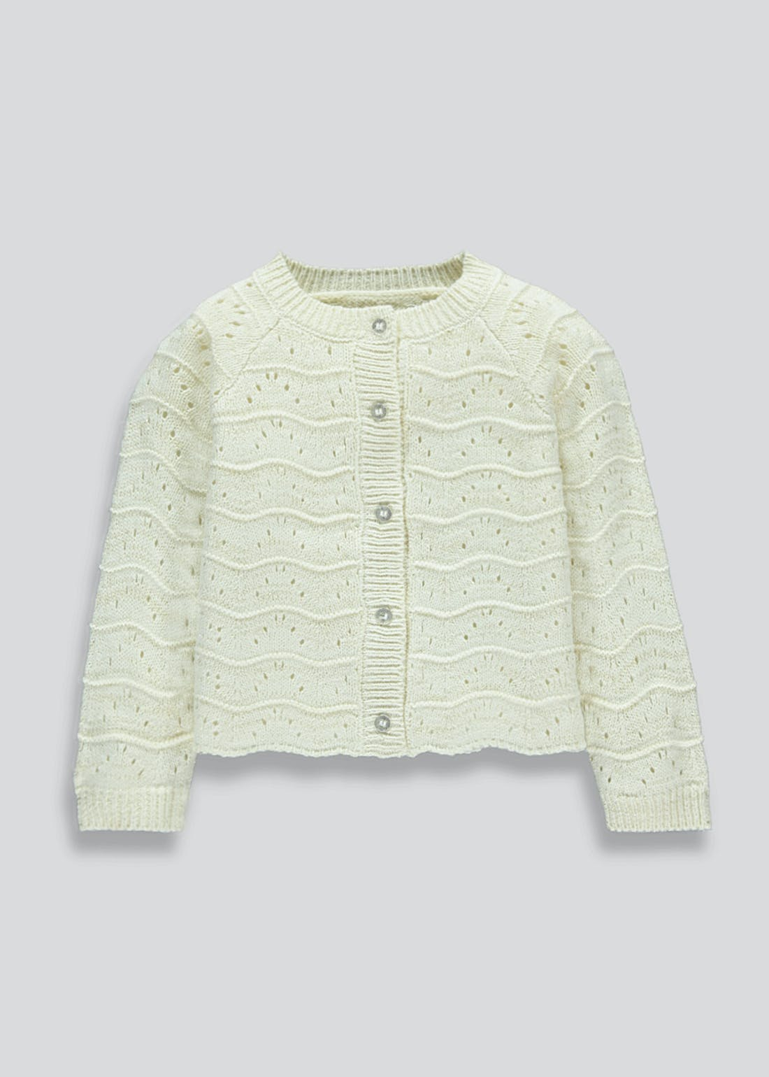 Girls Scallop Edge Sparkle Cardigan (9mths-6yrs)