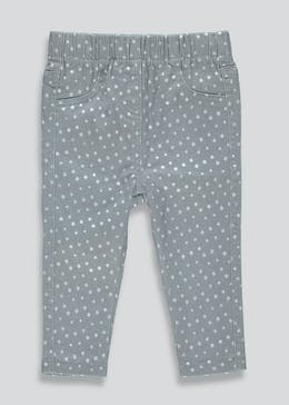 Girls Star Print Jeggings (9mths-6yrs)