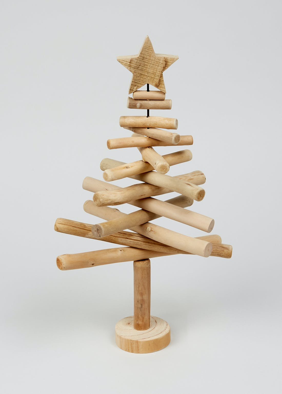 Wooden Stick Christmas Tree (44cm x 25cm x 8cm)