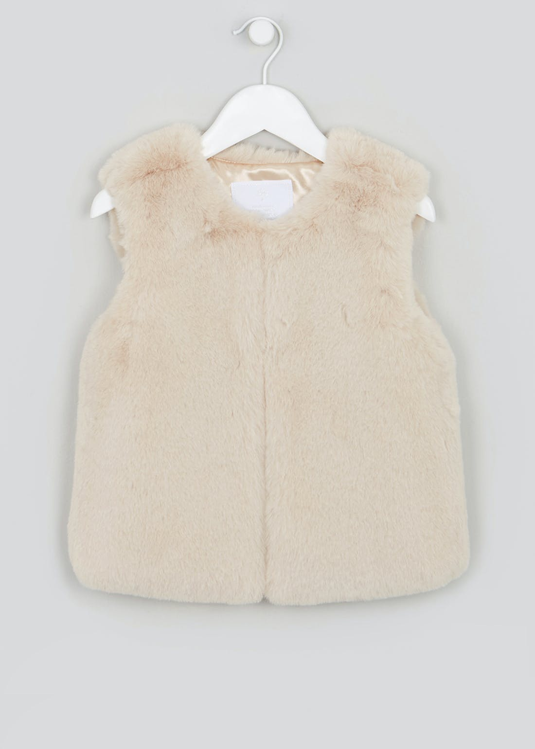 Girls Cream Faux Fur Gilet (4-13yrs)