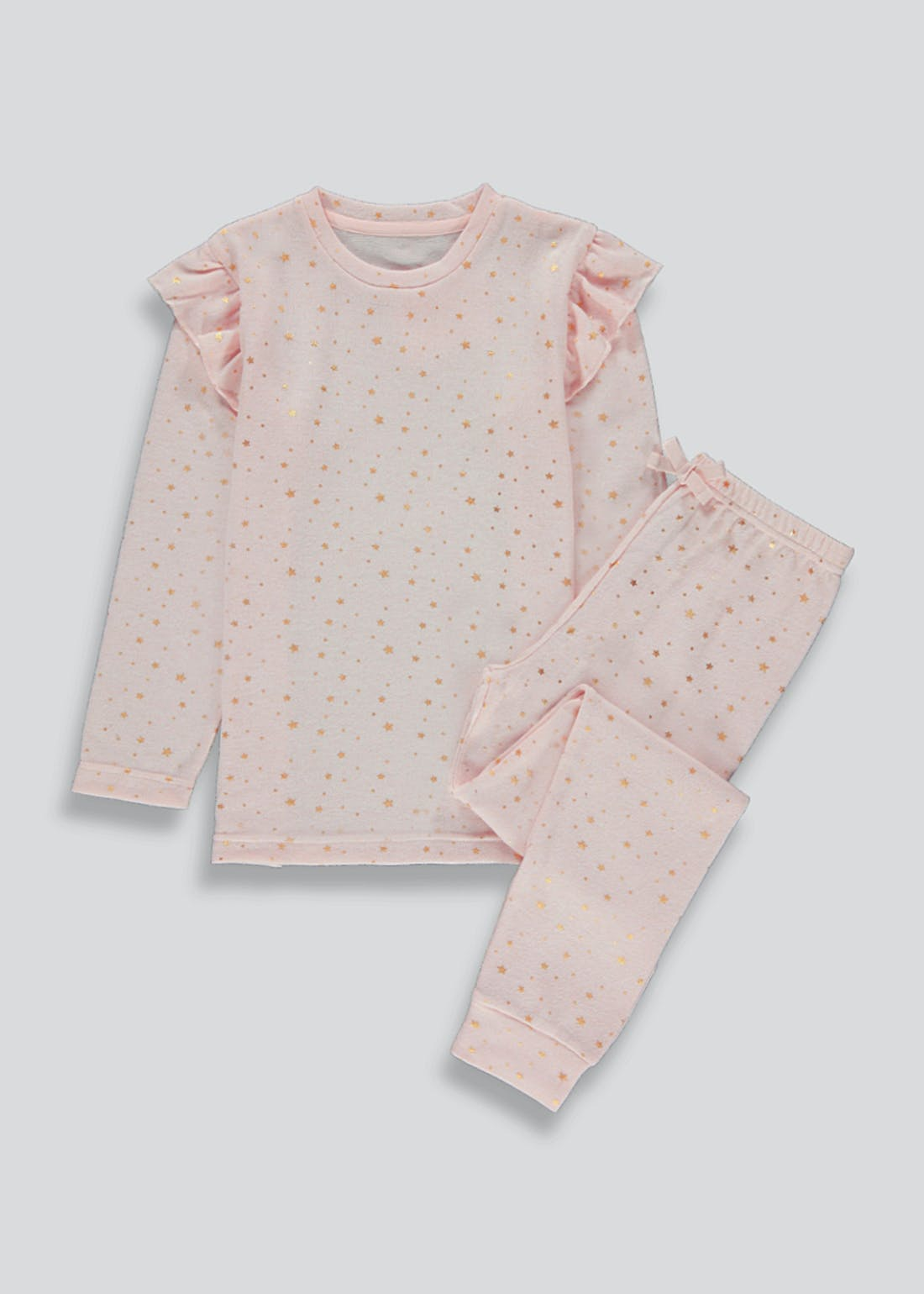 Girls Frill Shoulder Star Print Pyjamas (6-13yrs)