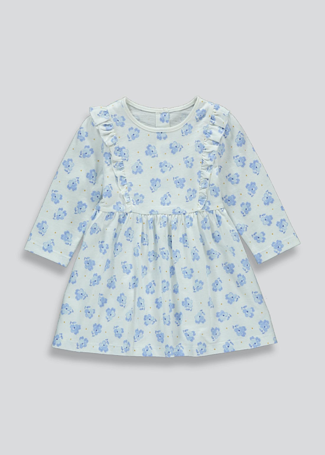 Girls Long Sleeve Floral Dress (Tiny Baby-23mths)