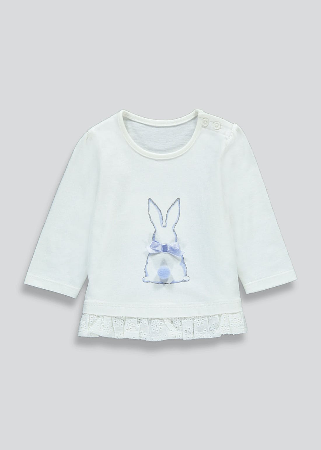 Girls Long Sleeve Bunny T-Shirt (Newborn-23mths)