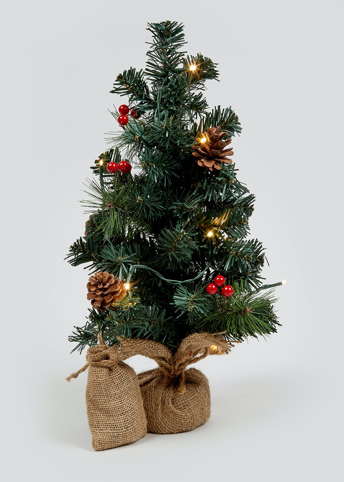 Mini Pre-Lit Christmas Tree (45cm)