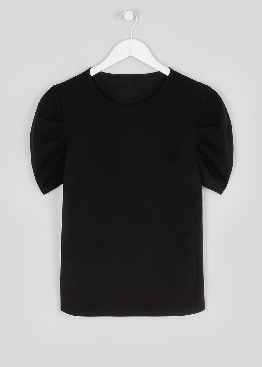 Textured Gathered Sleeve Top