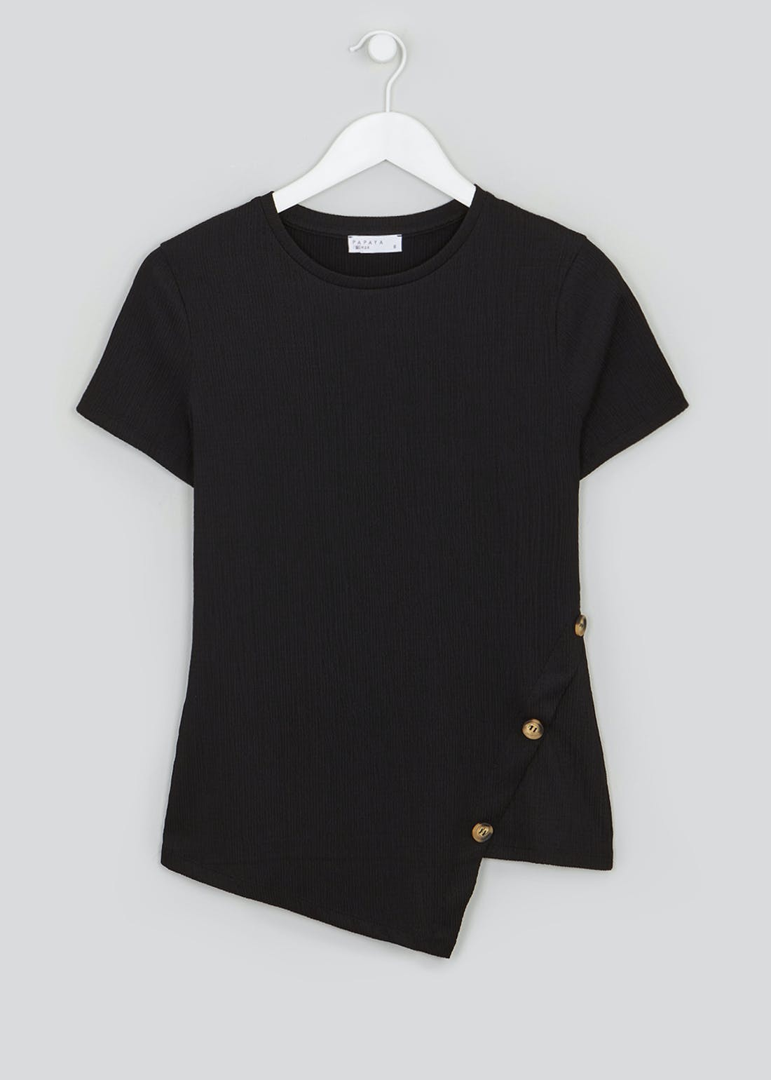 Asymmetric Button Co-Ord T-Shirt