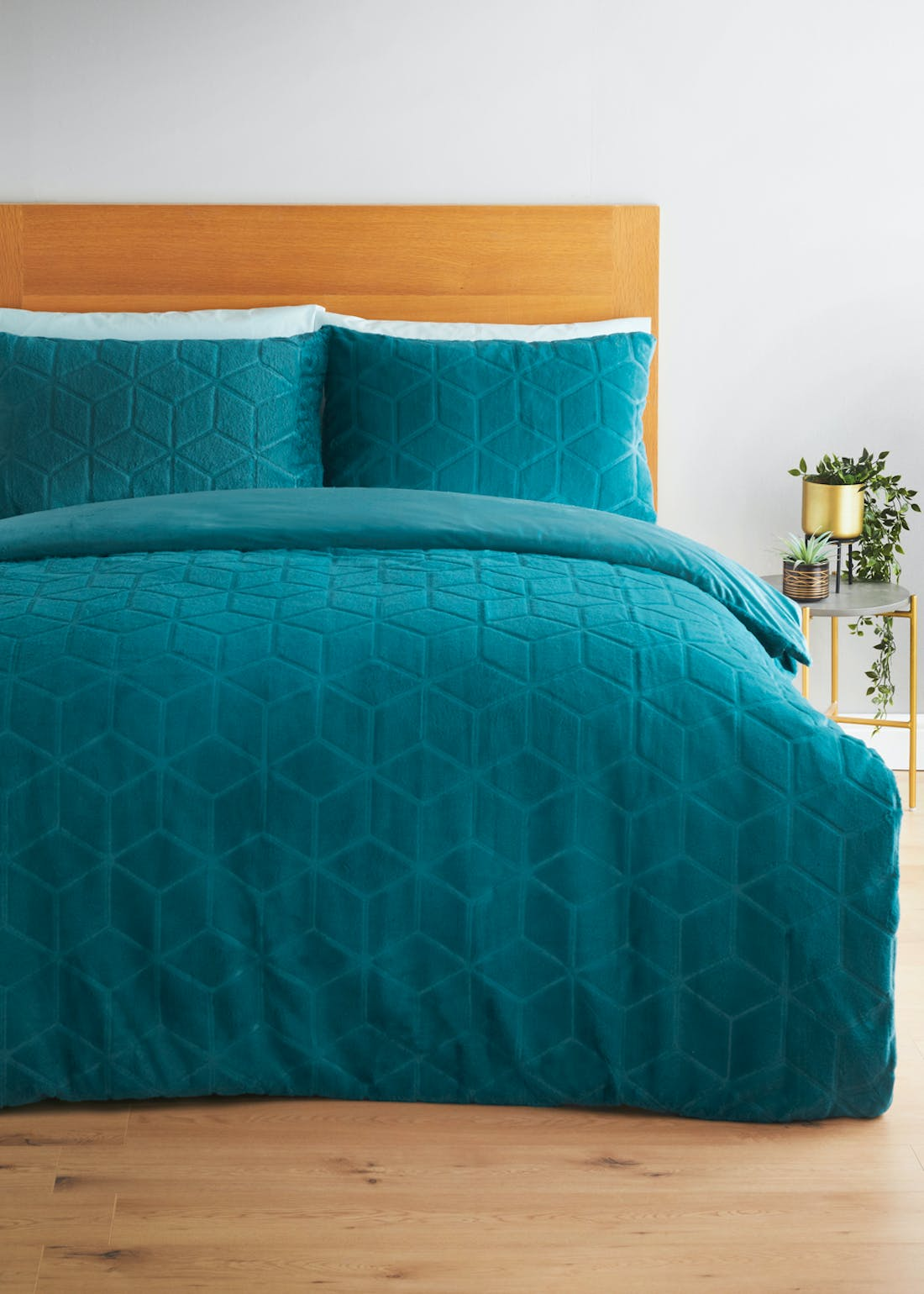 Embossed Faux Fur Duvet Cover