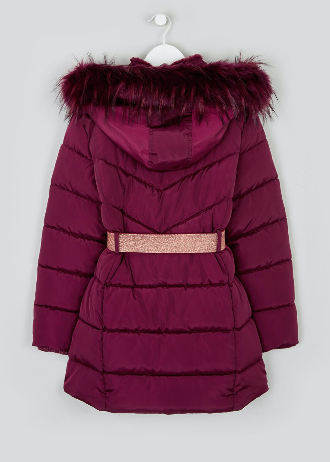 Girls Berry Padded Parka Coat (4-13yrs)