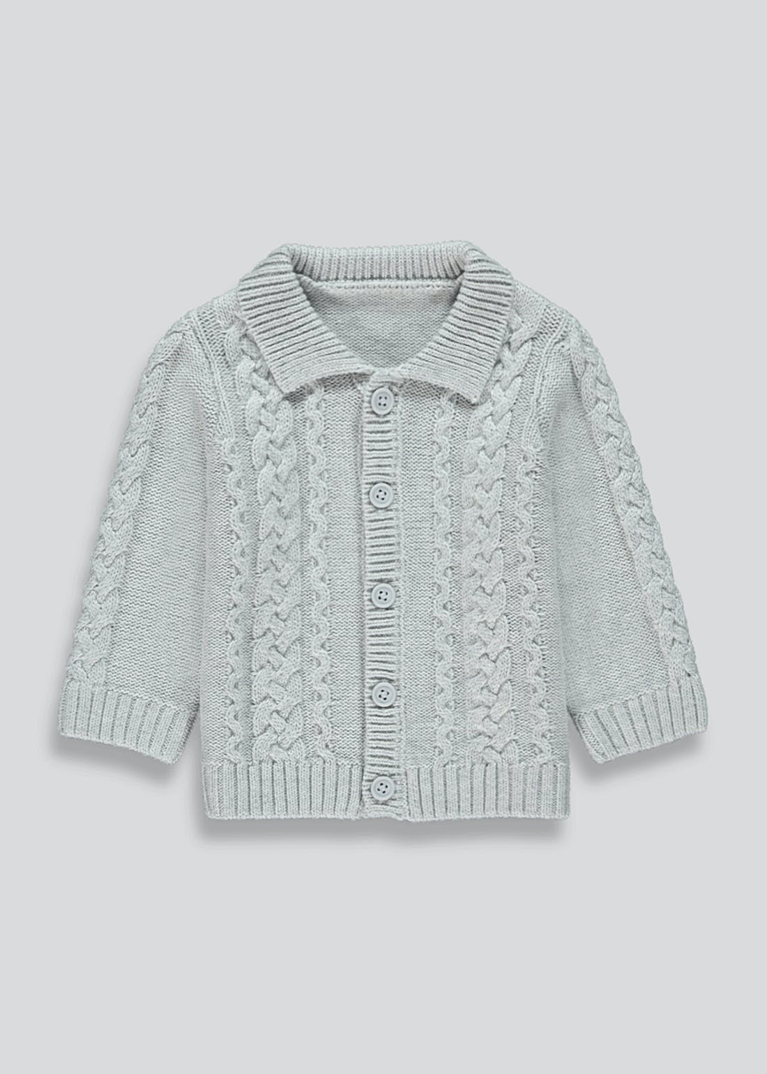 Boys Knitted Shawl Neck Cardigan (Newborn-23mths)