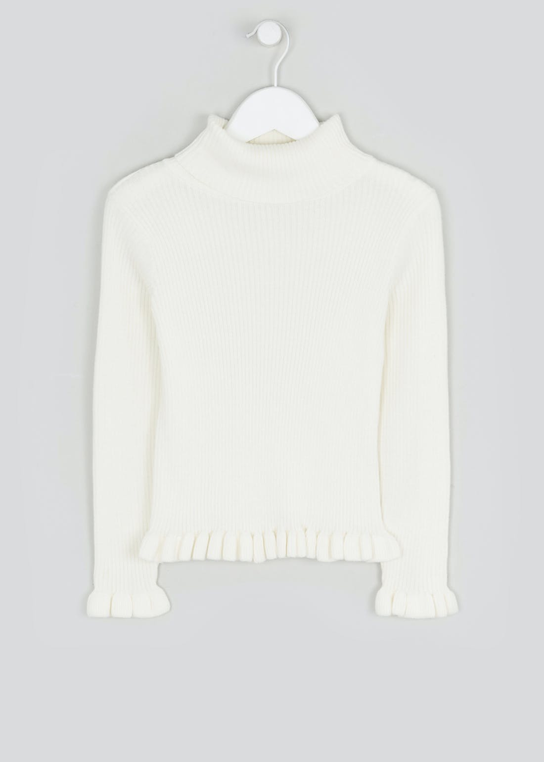 Girls Ribbed Roll Neck Jumper (4-13yrs)