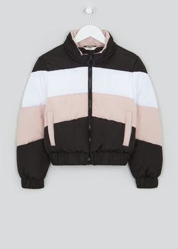 Girls Candy Couture Colour Block Puffer Jacket (9-16yrs)
