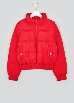 Girls Candy Couture Red Puffer Jacket (9-16yrs)