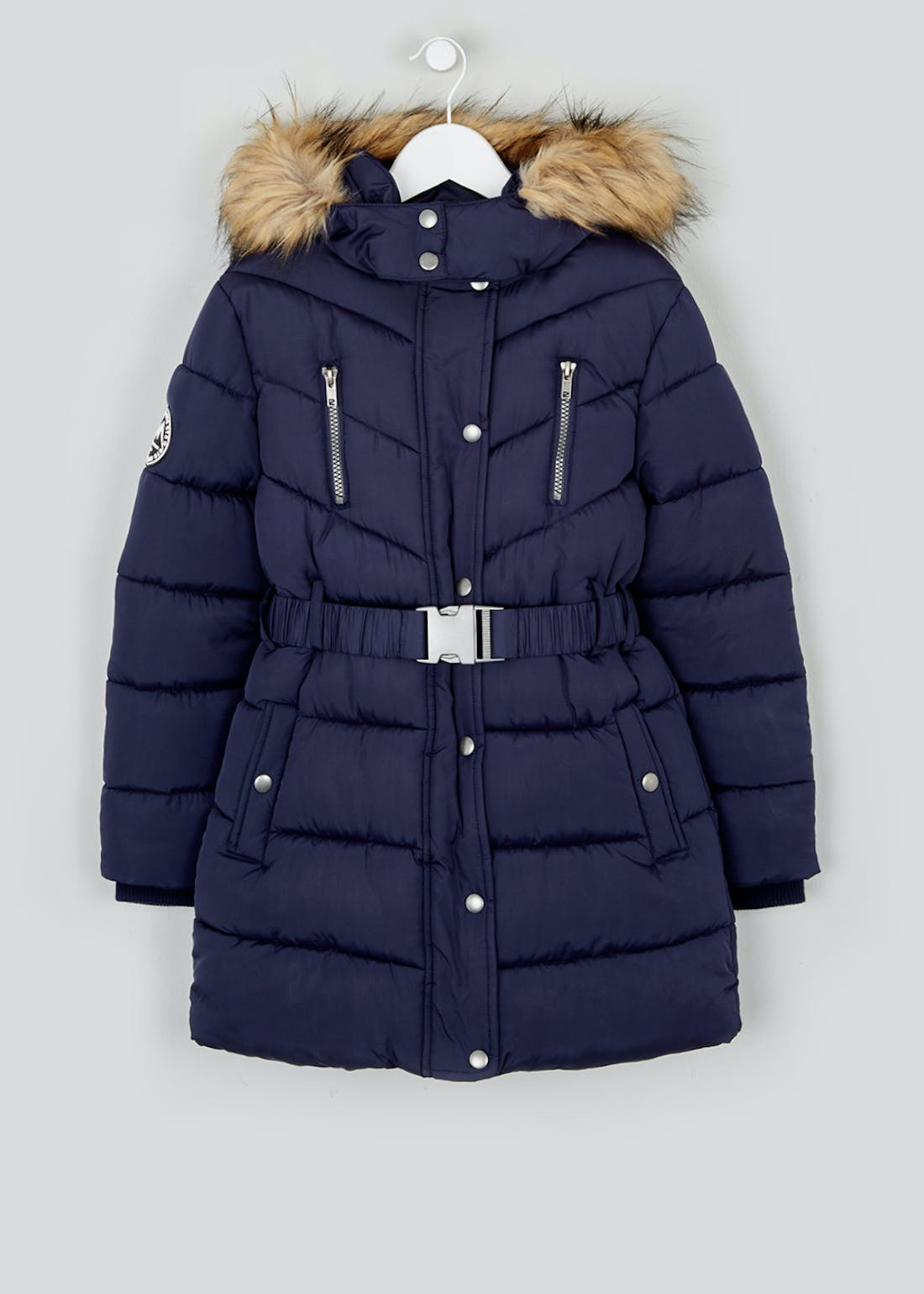 Girls Candy Couture Navy Padded Coat (9-16yrs)