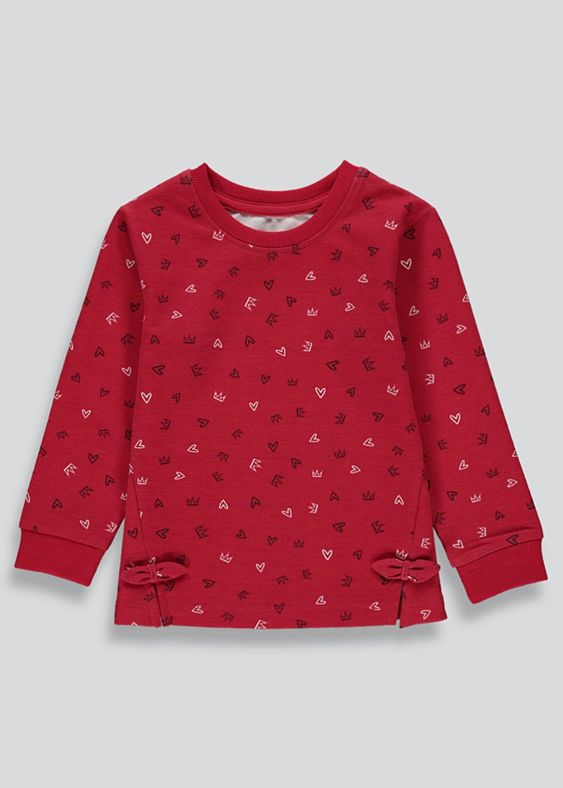 Girls Crown Print Sweatshirt (9mths-6yrs)