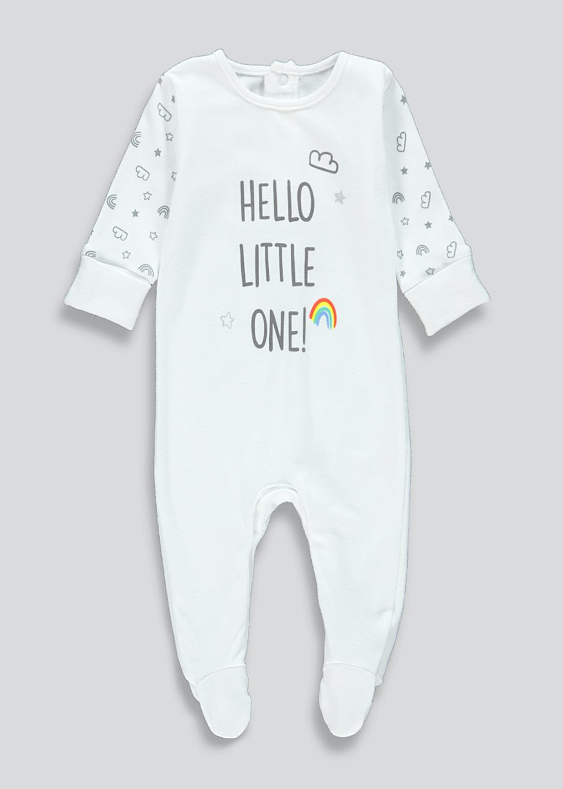 Unisex Hello Little One Baby Grow (Tiny Baby-9mths)