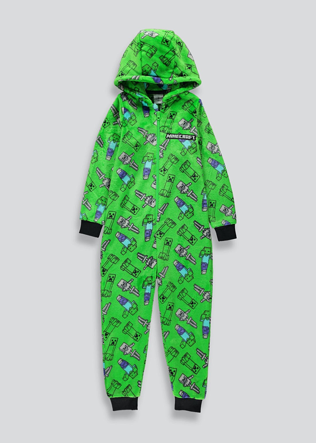 Kids Minecraft Fleece Onesie (5-12yrs)