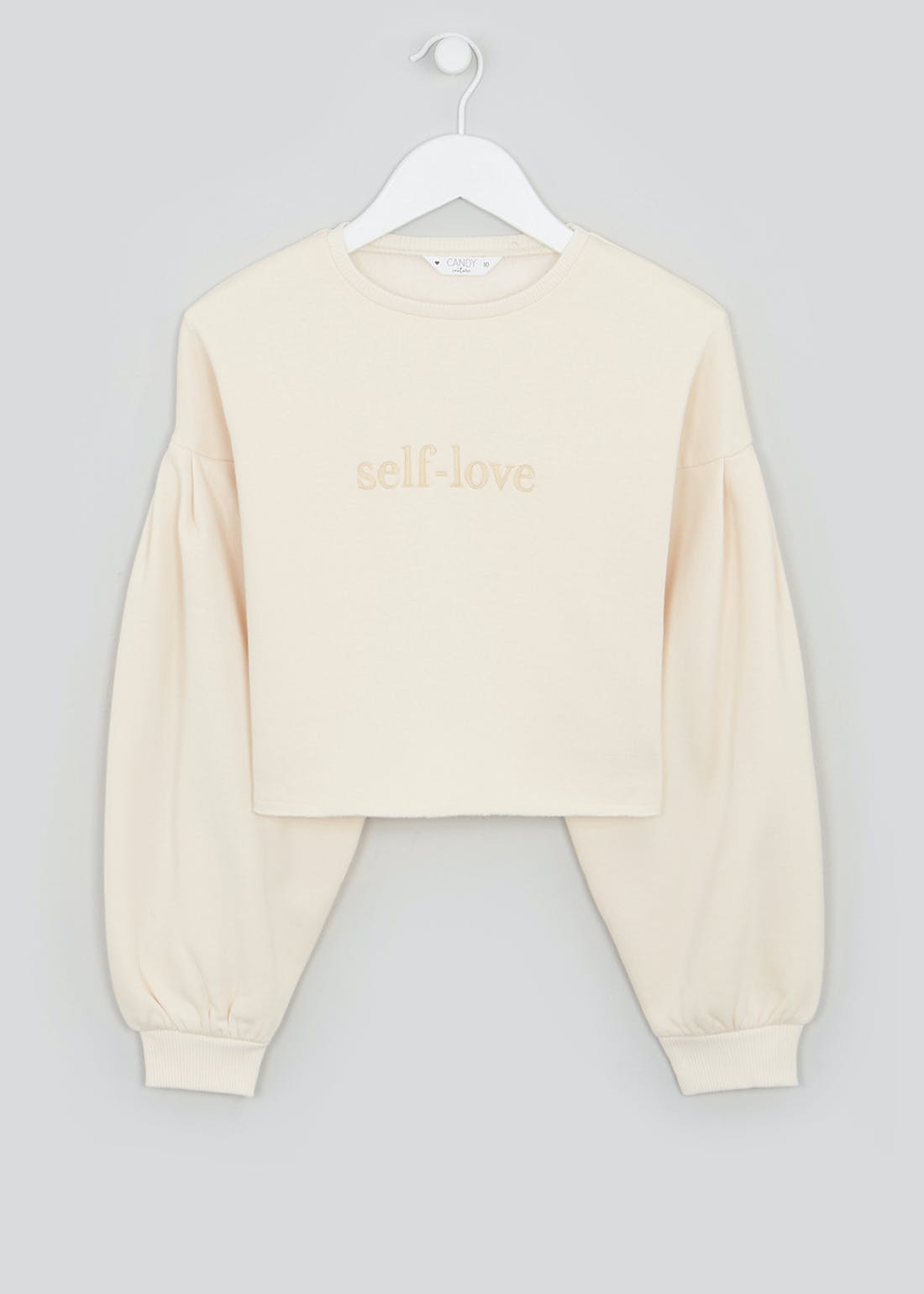 Girls Candy Couture Self Love Cropped Sweatshirt (9-16yrs)