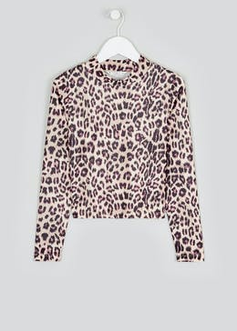 Girls Candy Couture Leopard Print Top (9-16yrs)