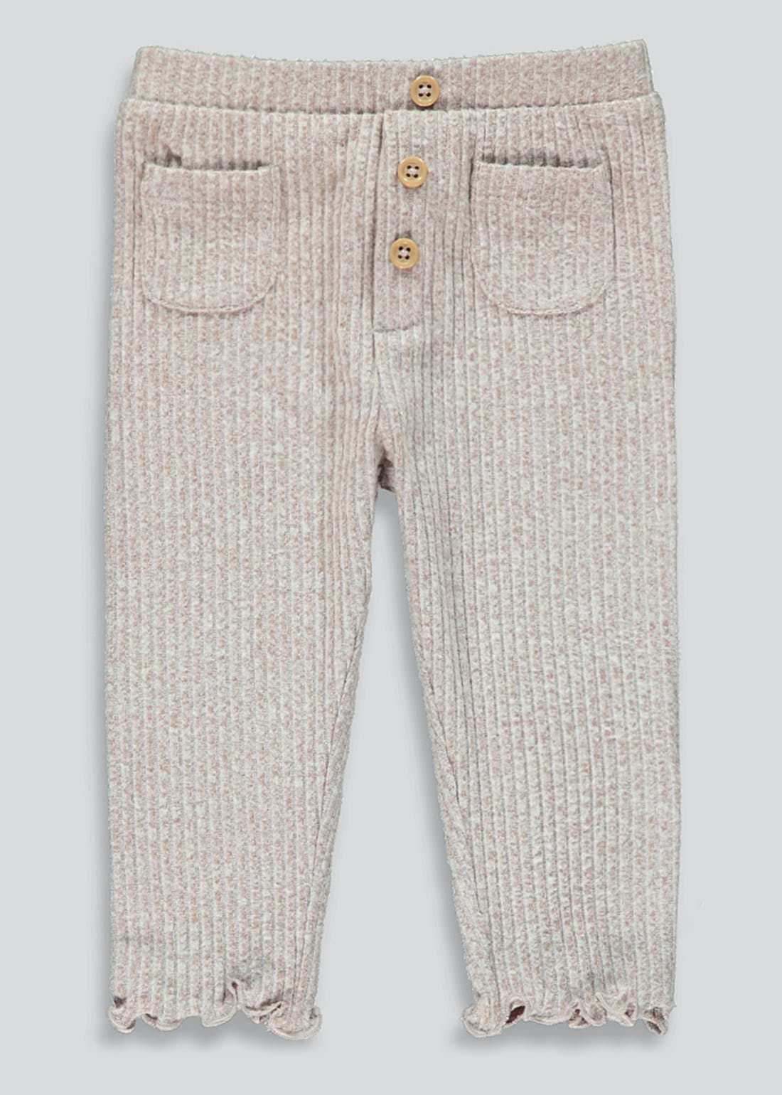 Girls Ribbed Pocket Leggings (9mths-6yrs)