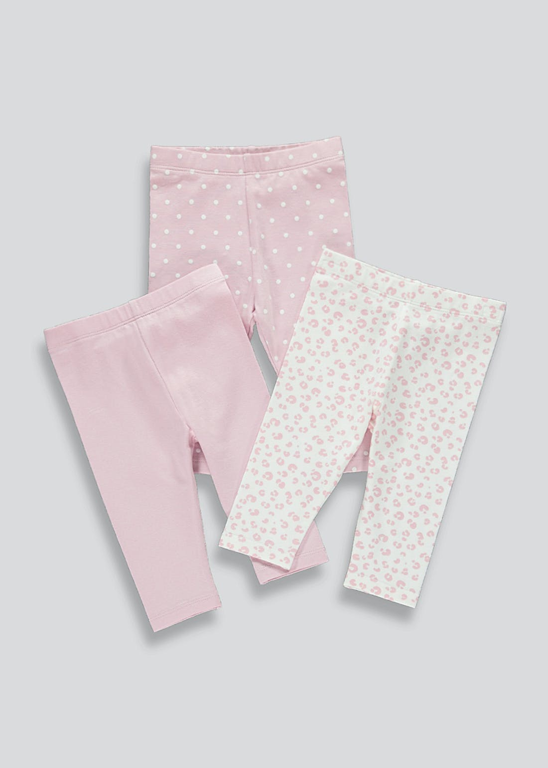 Girls 3 Pack Leggings (Newborn-23mths)