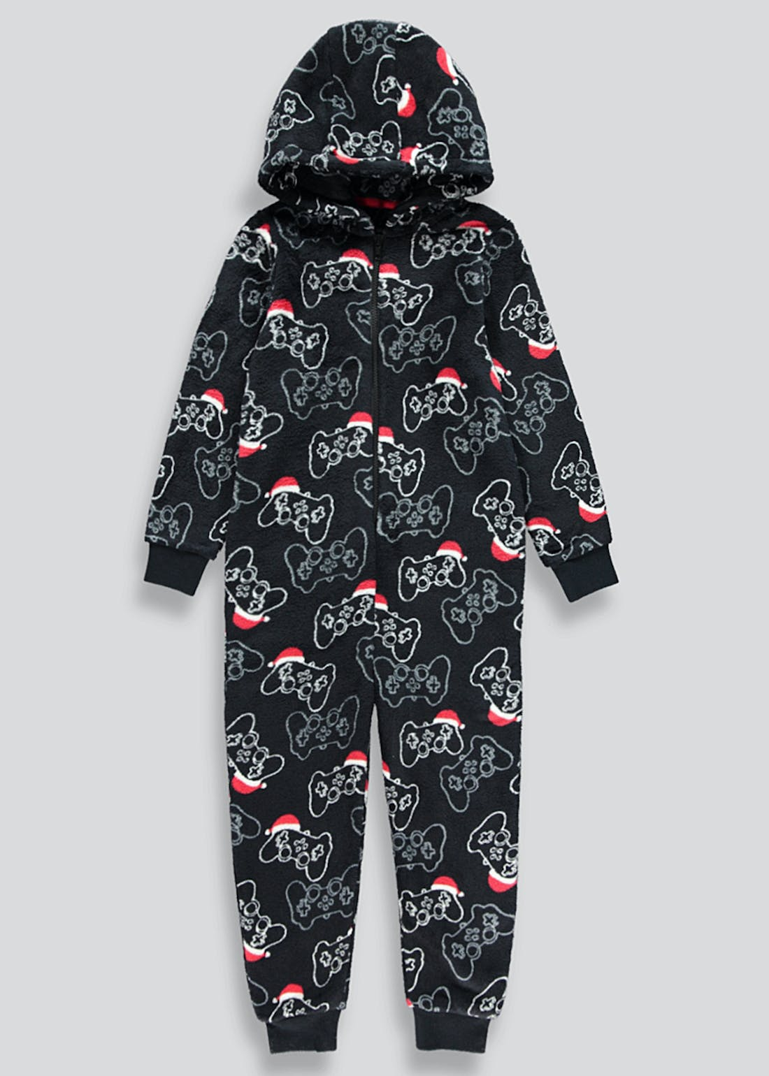 Kids Christmas Gaming Fleece Onesie (4-13yrs)