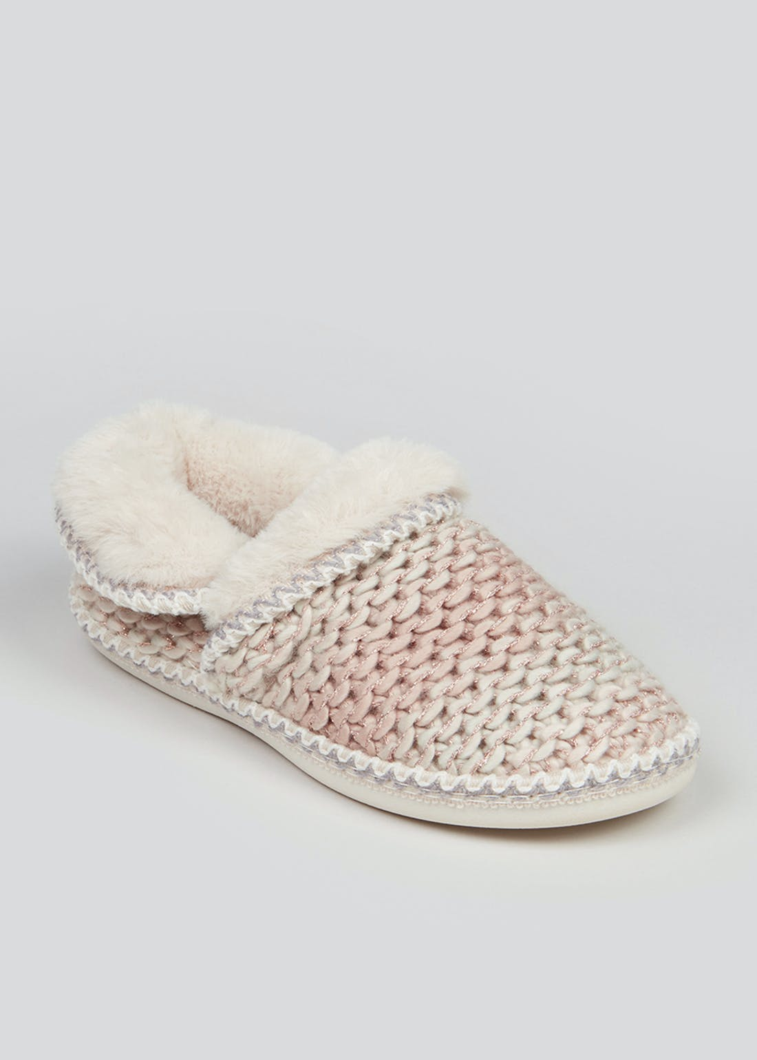 Pink Knitted Slippers