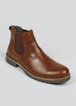 Tan Real Leather Chelsea Boots