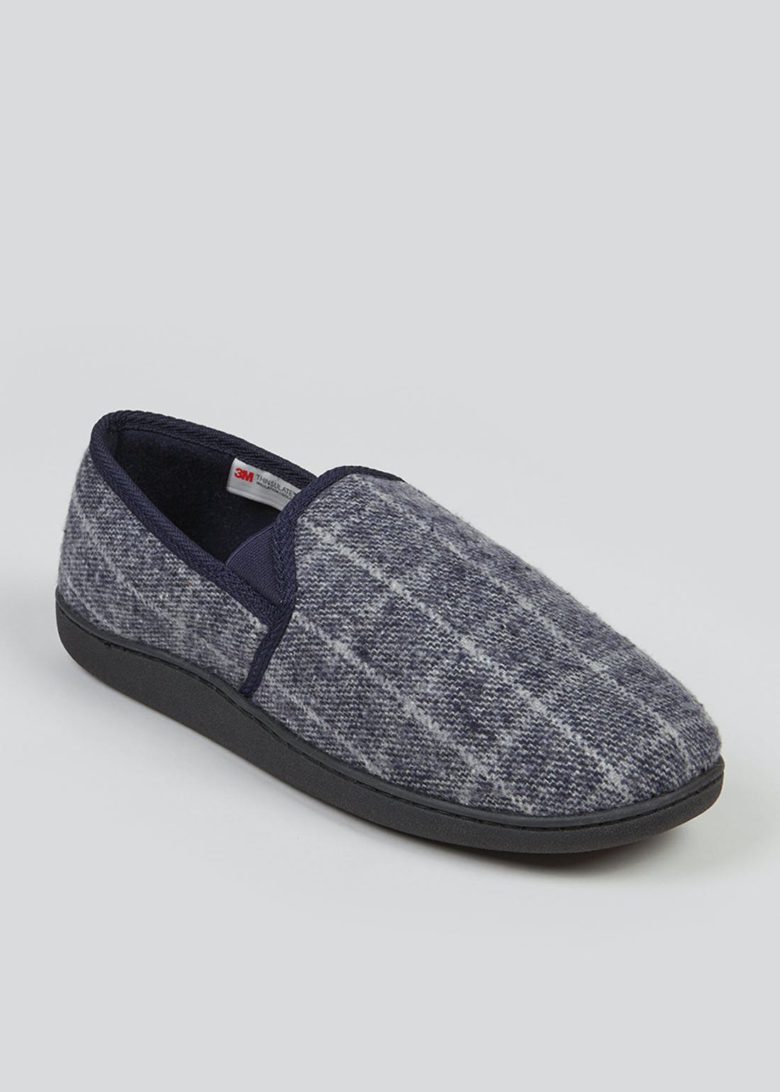 Grey Check Full Slippers