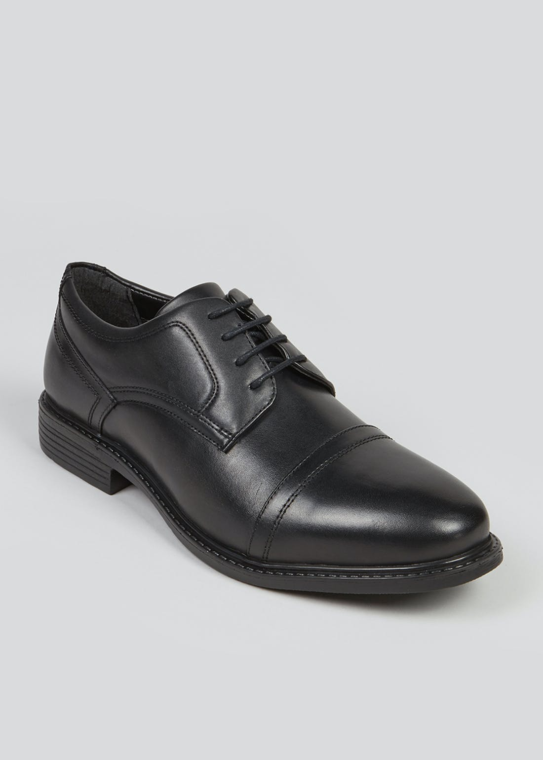 Black Toe Cap Formal Gibson Shoes