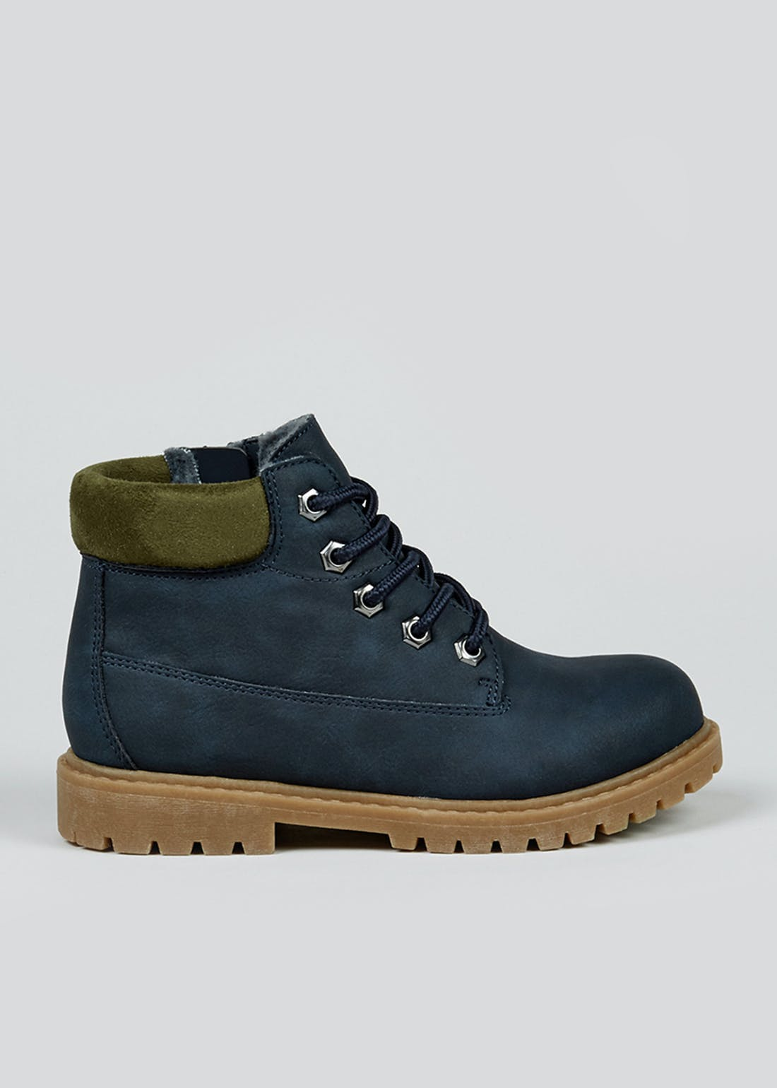 Boys Navy Hiker Boots (Younger 10-Older 6)