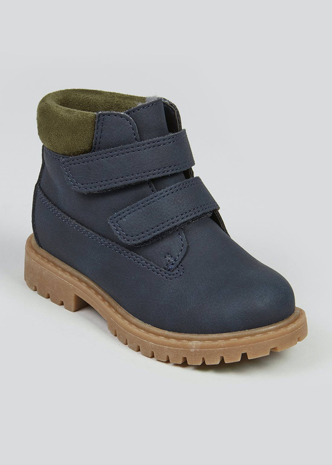Boys Navy Hiker Boots (Younger 4-12)