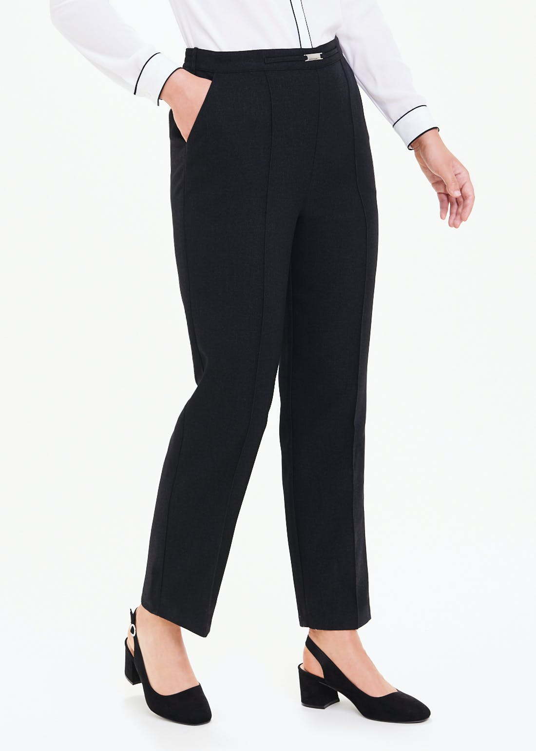 Papaya Classic Pleat Front Snaffle Trousers
