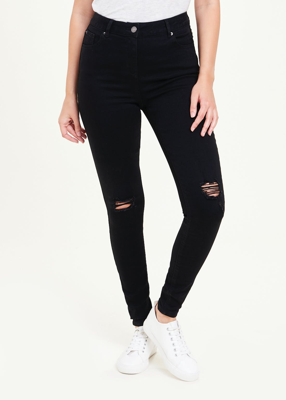 April Ripped Super Skinny Jeans
