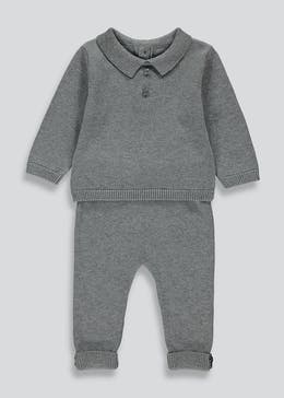 Boys Knitted Collar 2 Piece Set (Newborn-23mths)