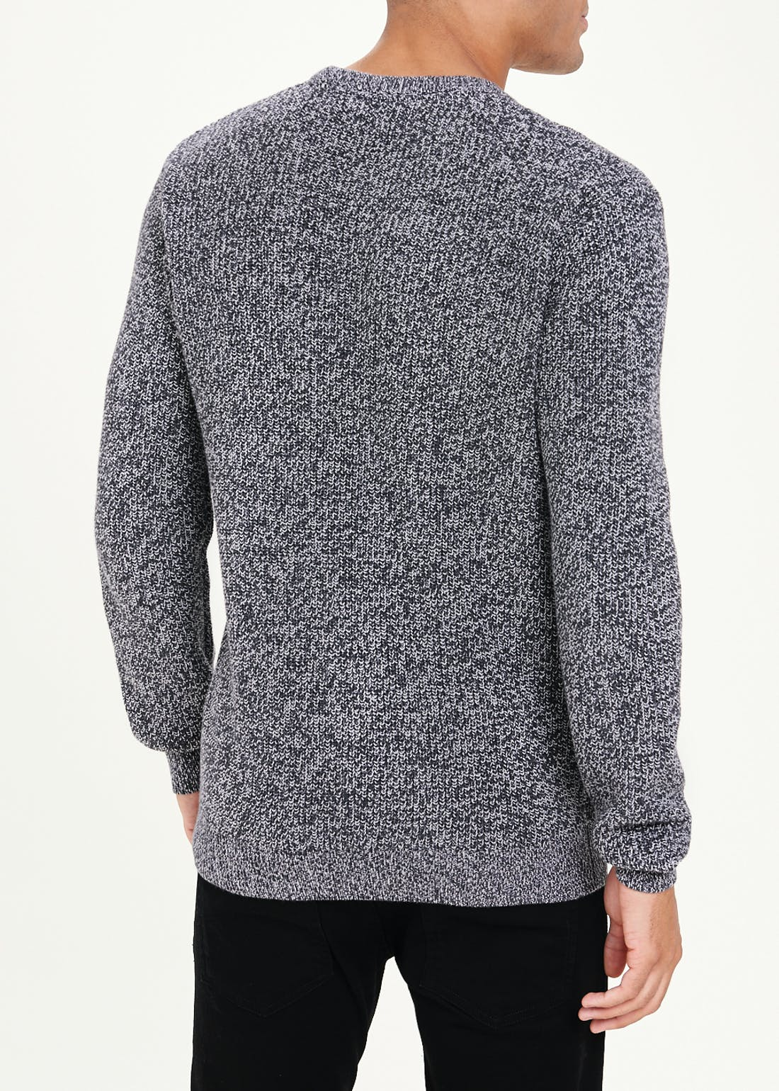 Crew Neck Ribbed Jumper