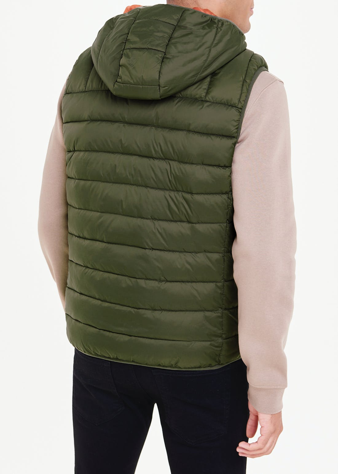 Khaki Lightweight Hooded Gilet