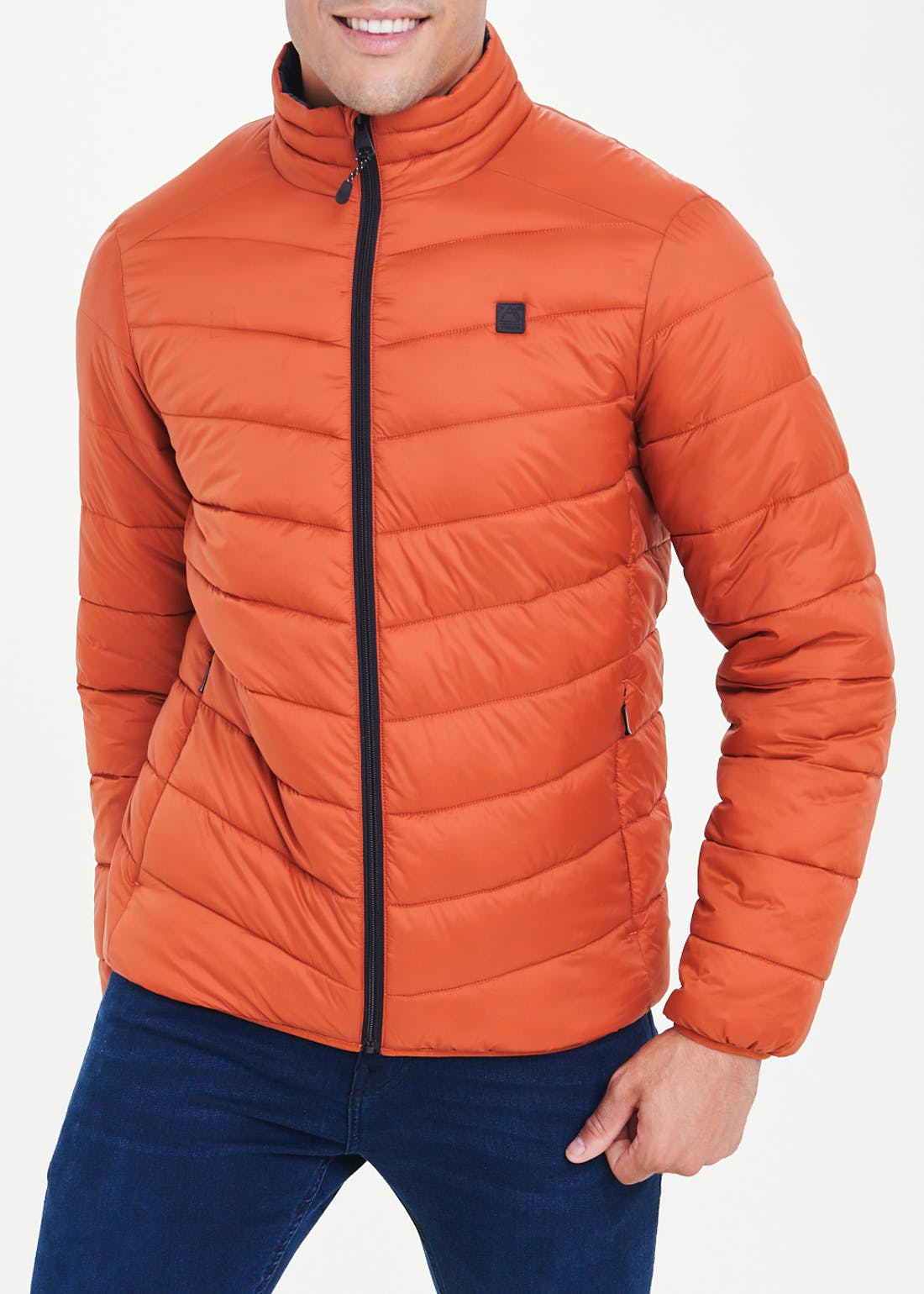 Orange Lightweight Puffer Jacket
