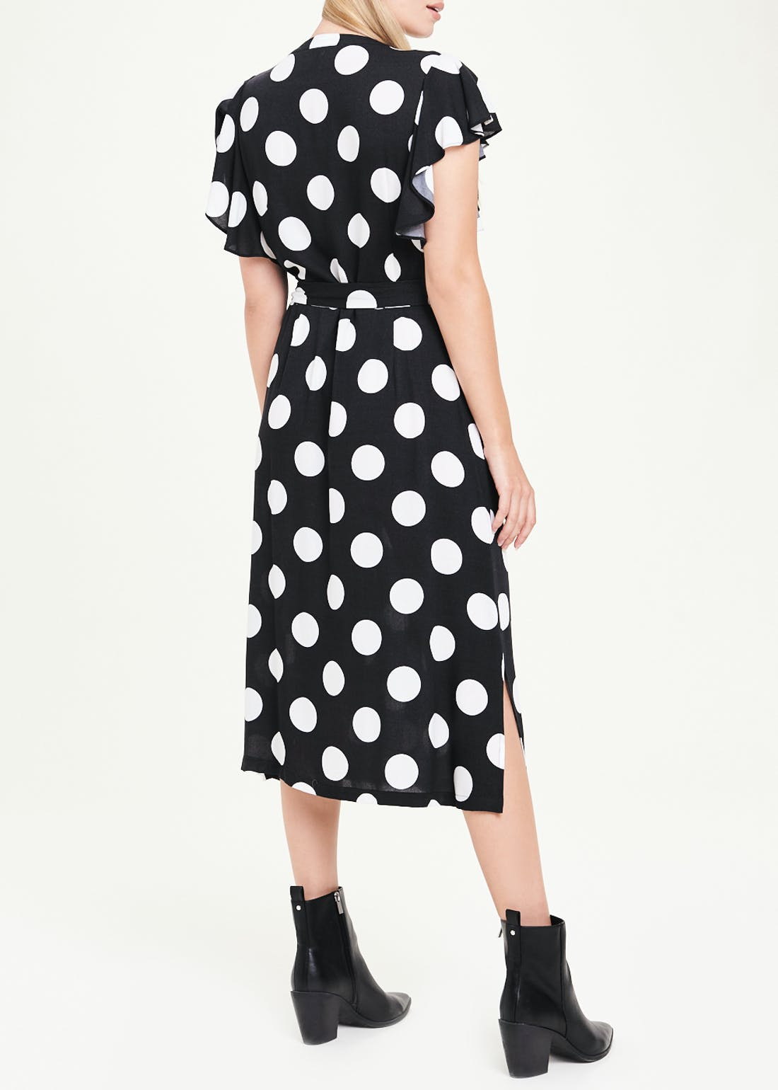 Soon Short Sleeve Polka Dot Shirt Dress