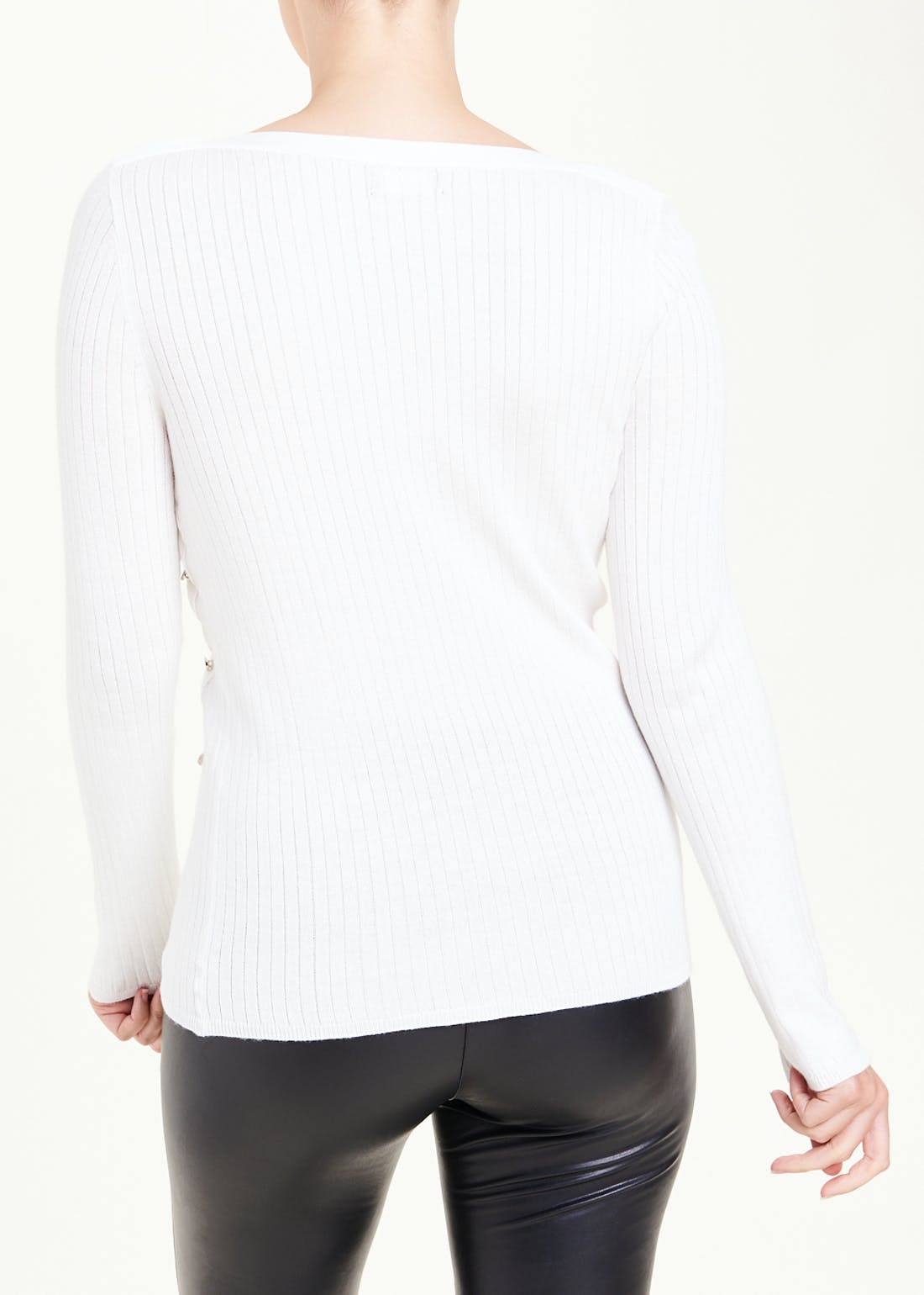 Ribbed Boat Neck Jumper