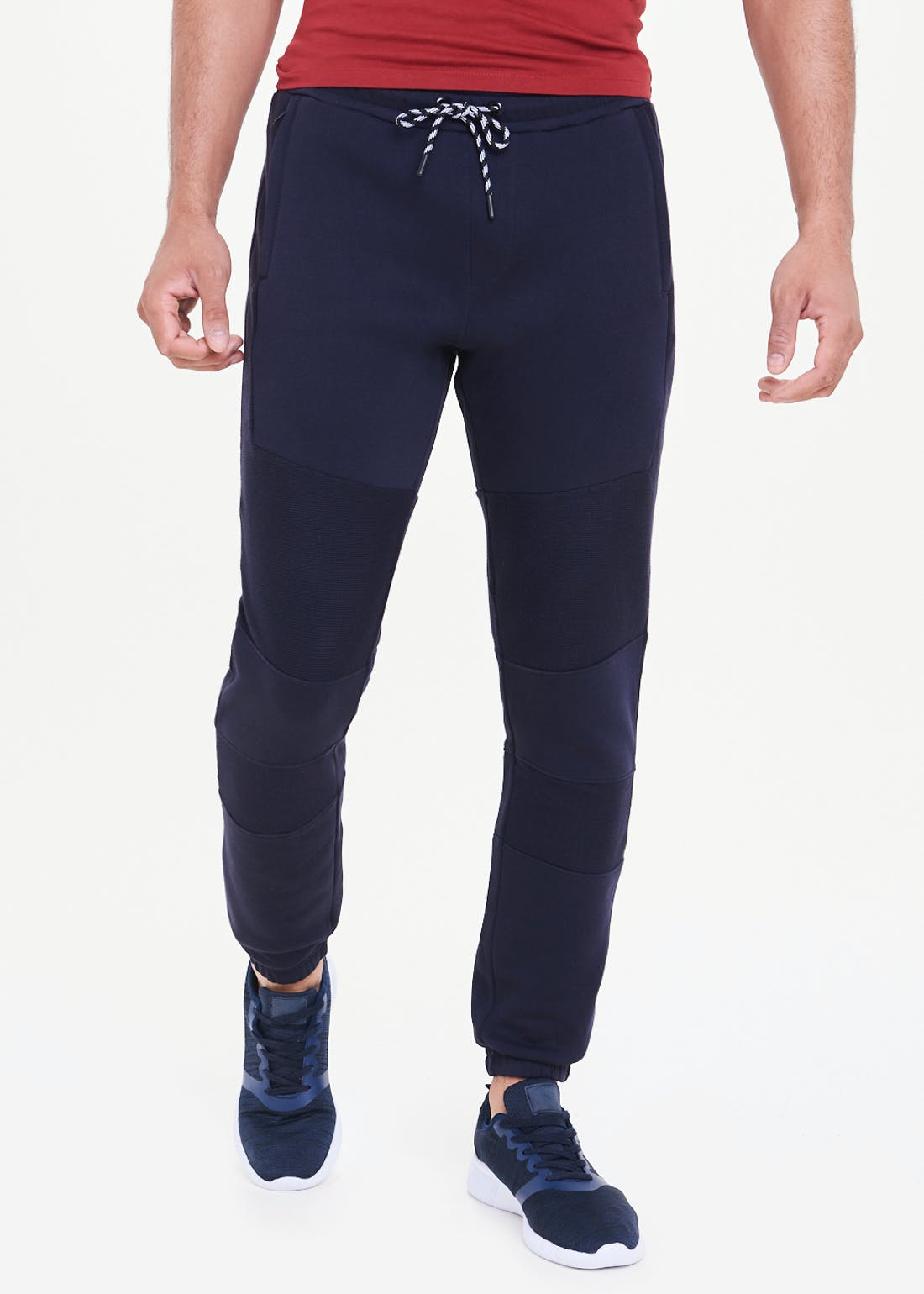 Ribbed Panel Joggers