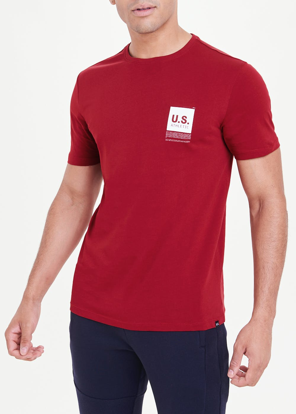 US Athletic New York Map T-Shirt – Red