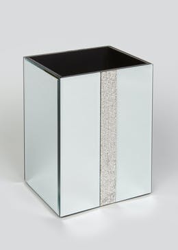 Mirrored Diamante Bin (23cm x 17.5cm)