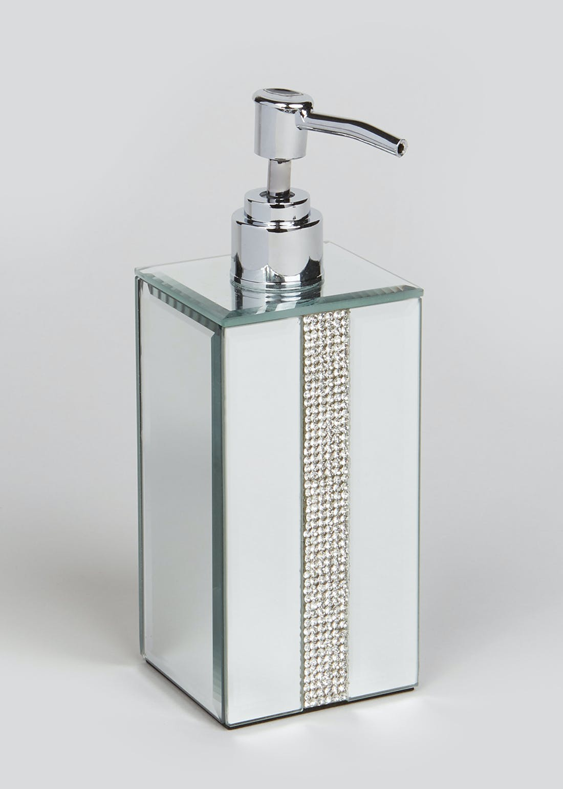 Mirrored Diamante Soap Dispenser (12cm x 6.5cm)