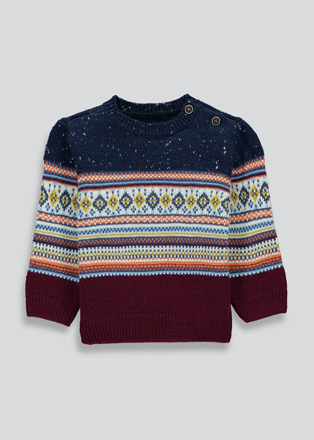 Boys Fair Isle Knit Jumper (9mths-6yrs)