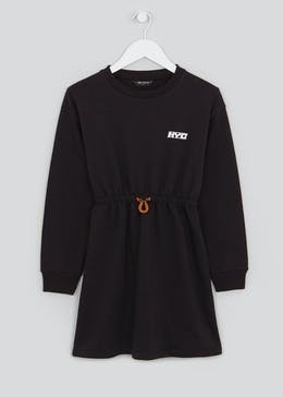 Girls Candy Couture Black Sweater Dress (9-16yrs)