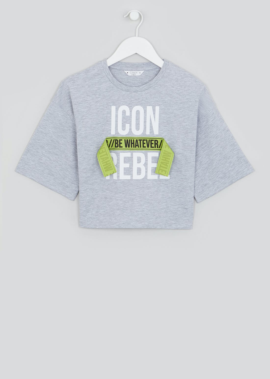 Girls Candy Couture Icon Cropped T-Shirt (9-16yrs)