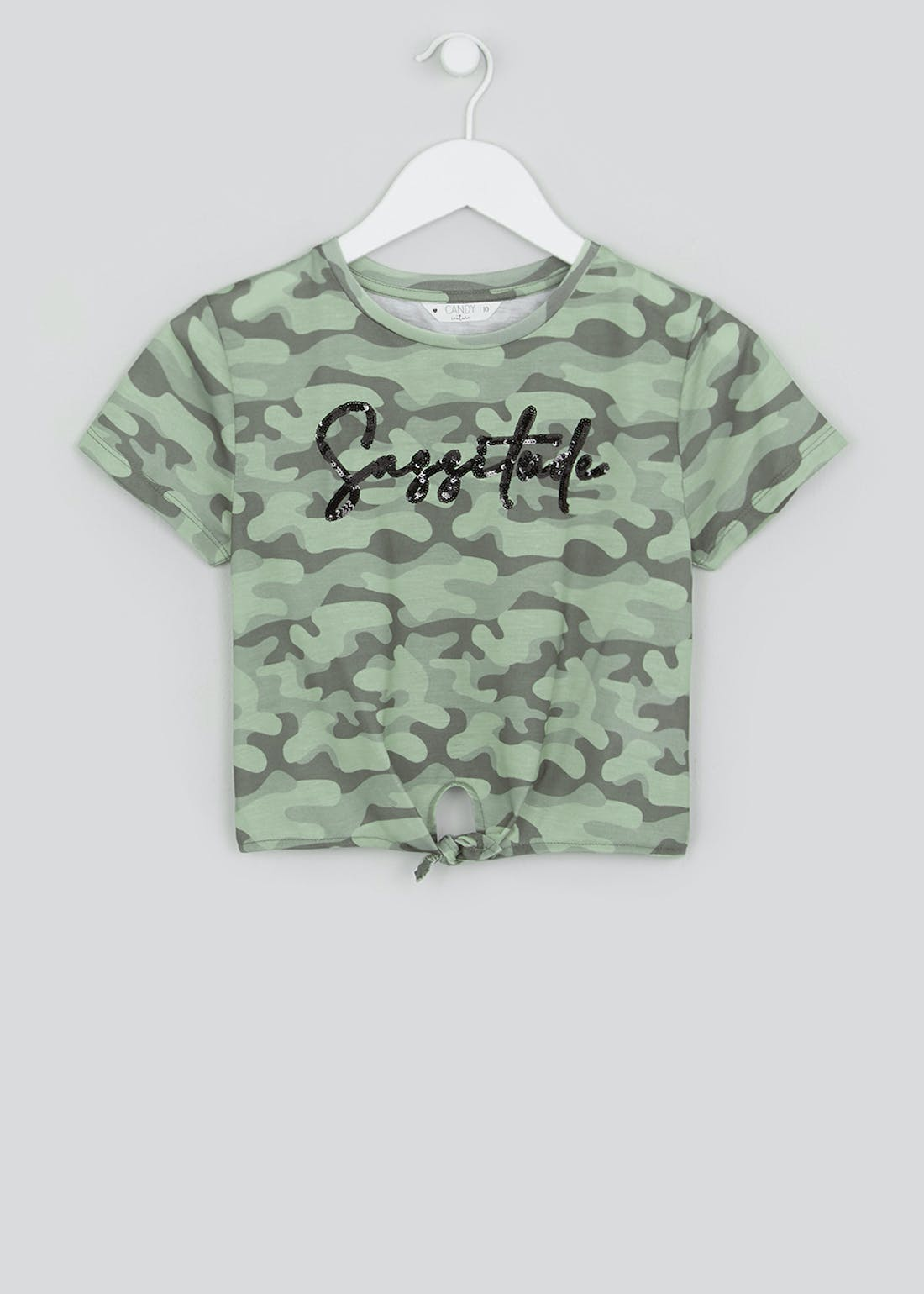 Girls Candy Couture Sassitude Cropped T-Shirt (9-16yrs)