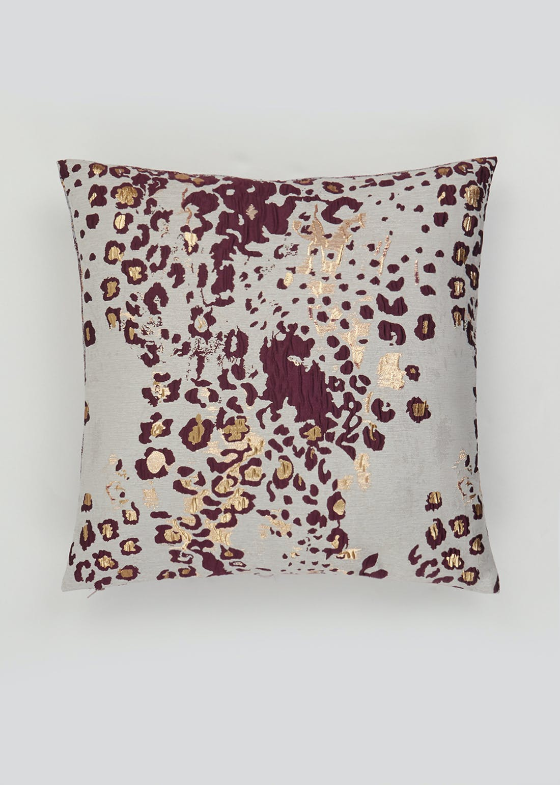 Metallic Leopard Print Cushion (46cm x 46cm)