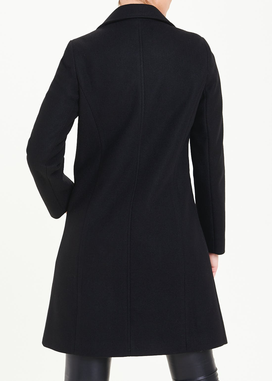 Metal Trim Tailored Double Breasted Coat